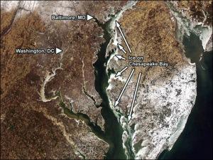 Ice on Chesapeake Bay