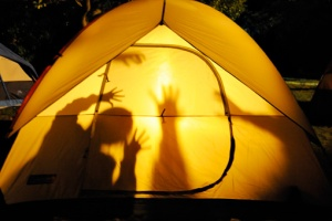 tent shadows