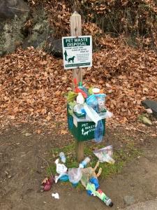 trash on trail