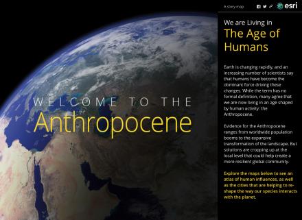 Anthropocene globe